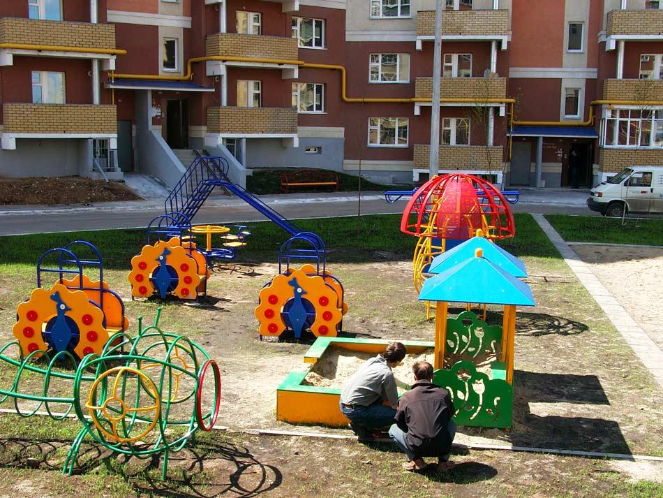 Оформление площадок детских садов